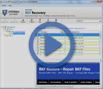 Screencast MS Backup Repair Software